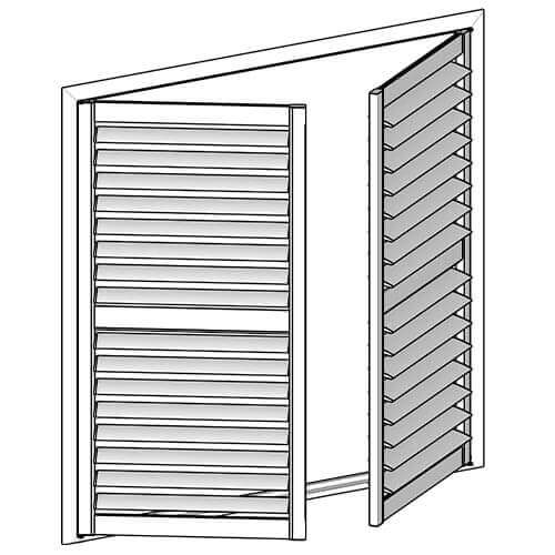 Altra Hinged Shutters, Altra Hinged Shutter, Blind Designs